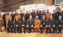 United Nations Police Medal Parade Nicosia Cyprus 3rd May 2004 - 77/78 Australian Contingent members combined with 11th Irish, 1st Dutch and 1st Indian Police Contingents.